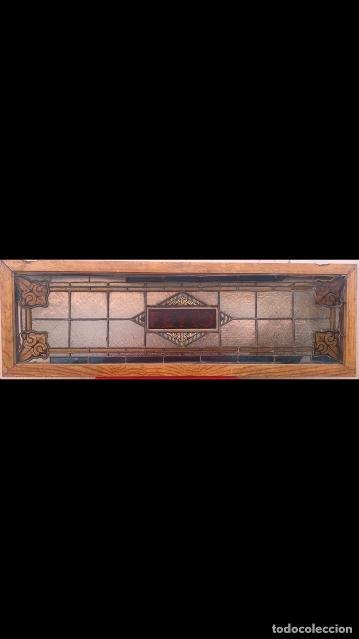 Antigüedades: ROTULO JOYA MODERNISTA BARCELONA 1900 LETRERO IMPRENTA HISTORICO CASA FEYTO PLAZA REAL CRISTAL MUSEO - Foto 12 - 167507704
