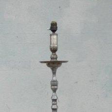Antigüedades: LAMPARA DE PIE DE ALPACA . Lote 167524424