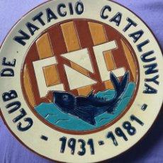 Antigüedades: CLUD DE NATACIÓ CATALUNYA 1931 1981 PLATO . Lote 167535656