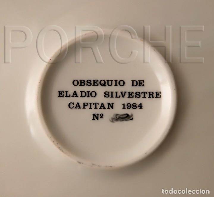 Antigüedades: PLATO DE CERAMICA ALCOY A SAN JORGE, FILA CIDES CAPITAN 1984, FIRMADO GUARINOS. NUMERADO - Foto 5 - 167541912