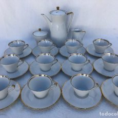 Antigüedades: JUEGO CAFÉ EN PORCELANA ALEMANA. Lote 167587756