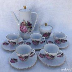 Antigüedades: JUEGO CAFÉ EN PORCELANA ALEMANA. Lote 167588172