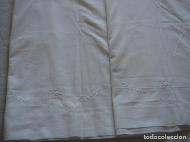 Antigüedades: juego de cama de hilo modernista con aplicacioes de encaje,para cama pequeña (1) - Foto 14 - 117447571
