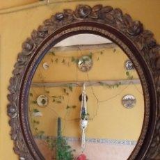 Antigüedades: BONITO ESPEJO MADERA CON ROSAS, NO SE ENVIA. Lote 167568298