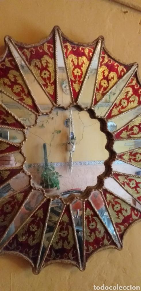 Antigüedades: PRECIOSO ESPEJO SOL, MUY BONITO, OJO NO SE ENVIA - Foto 2 - 167569138