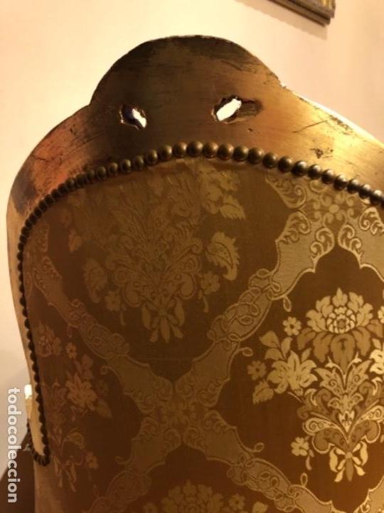 Antigüedades: Chaise Longue. Sofá madera tallada y dorado - Foto 4 - 167590672