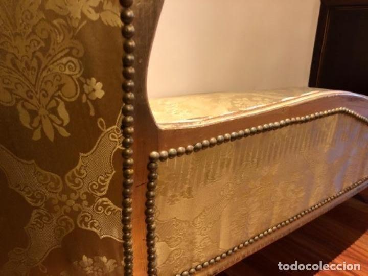 Antigüedades: Chaise Longue. Sofá madera tallada y dorado - Foto 6 - 167590672
