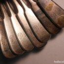 Antigüedades: INCREIBLE Y RARRO 7 CUCHARAS DE PLATA DEL IMPERIO RUSO , 400 GRAMOS PLATA PURA !!! 100% ORGINAL. Lote 167610300