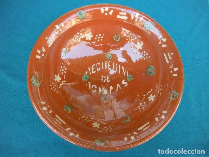 CERÁMICA POPULAR. LEBRILLO LA BISBAL, RECUERDO (Antigüedades - Porcelanas y Cerámicas - La Bisbal)