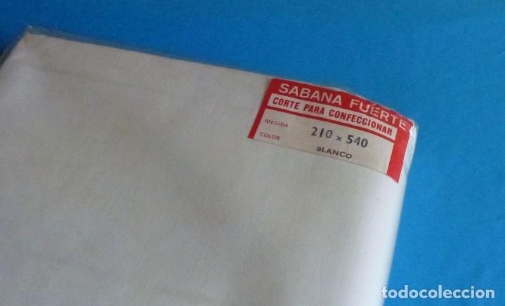 Antigüedades: L 3 - Corte para confeccionar - sábana fuerte - Tolra.210 x 540. - Foto 4 - 167556484