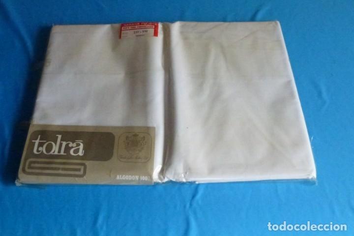 Antigüedades: L 6 - Corte para confeccionar - sábana fuerte - Tolra.210 x 540. - Foto 3 - 167556588