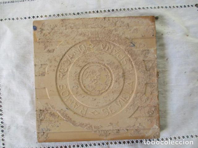 Antigüedades: azulejo heraldico Ramos Rejano - Foto 2 - 167634856