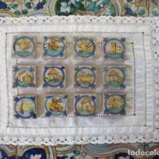Antigüedades: AZULEJOS OLAMBRILLAS PINTADAS RAMOS REJANO. Lote 167635000