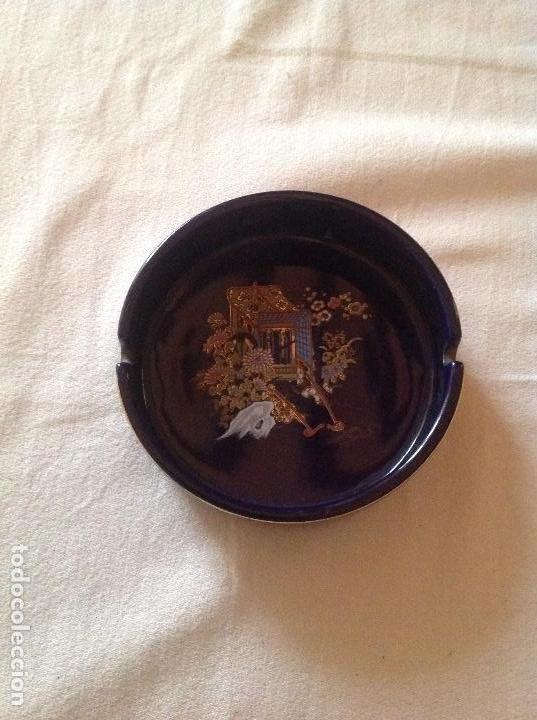 Antigüedades: CENICERO ANTIGUO DE PORCELANA JAPONESA SELLO FIRMA SATSUMA - Foto 2 - 112785607