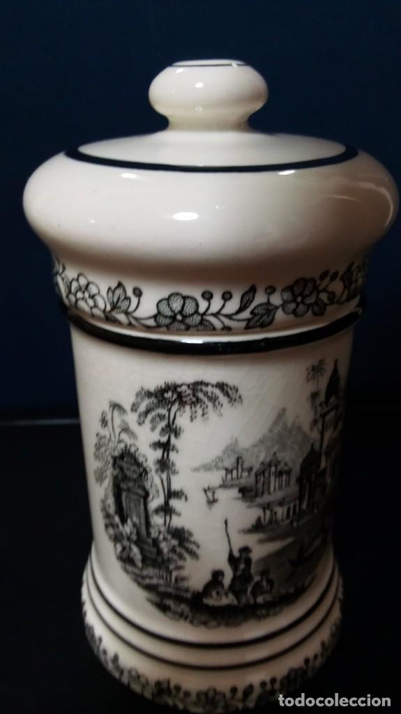 ALBARELO DECORACIÓN EN NEGRO (13,5 CM ALTURA APROX) (Antigüedades - Porcelanas y Cerámicas - La Cartuja Pickman)