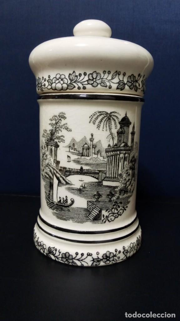 Antigüedades: Albarelo decoración en negro (13,5 cm altura aprox) - Foto 2 - 167635584