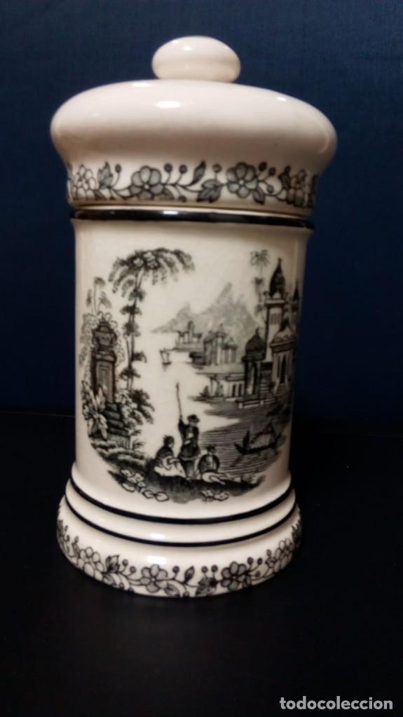 Antigüedades: Albarelo decoración en negro (13,5 cm altura aprox) - Foto 5 - 167635584