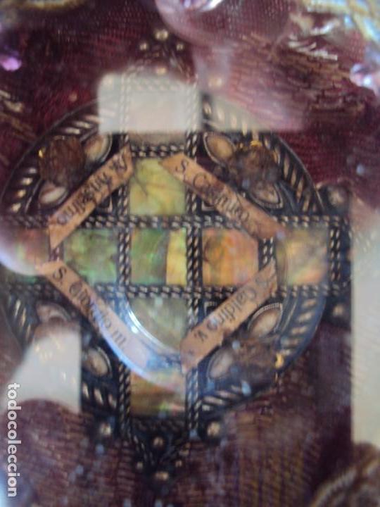 Antigüedades: (ANT-190601)ANTIGUO RELICARIO.S.GALDINO.S.GIORGIO.S.TRISELMO Y S.CASIMIRO - CRISTAL - Foto 8 - 167670032