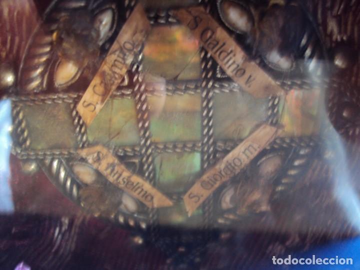Antigüedades: (ANT-190601)ANTIGUO RELICARIO.S.GALDINO.S.GIORGIO.S.TRISELMO Y S.CASIMIRO - CRISTAL - Foto 11 - 167670032