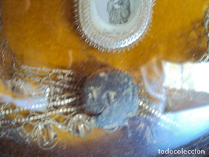 Antigüedades: (ANT-190610)ANTIGUO RELICARIO DE SAN FRANCISCO DE PAULA - MARCO Y CRISTAL - Foto 5 - 167670552