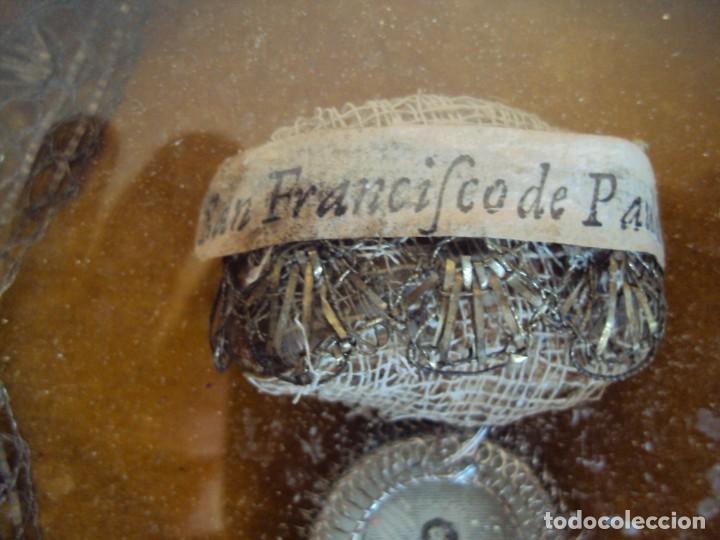 Antigüedades: (ANT-190610)ANTIGUO RELICARIO DE SAN FRANCISCO DE PAULA - MARCO Y CRISTAL - Foto 11 - 167670552