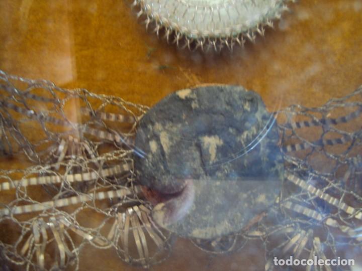 Antigüedades: (ANT-190610)ANTIGUO RELICARIO DE SAN FRANCISCO DE PAULA - MARCO Y CRISTAL - Foto 13 - 167670552