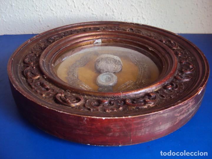 Antigüedades: (ANT-190610)ANTIGUO RELICARIO DE SAN FRANCISCO DE PAULA - MARCO Y CRISTAL - Foto 15 - 167670552