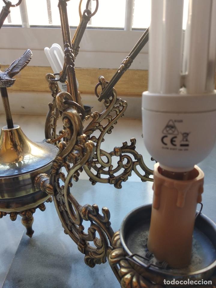 Antigüedades: Bonita lámpara antigua en bronce - Foto 3 - 167673692