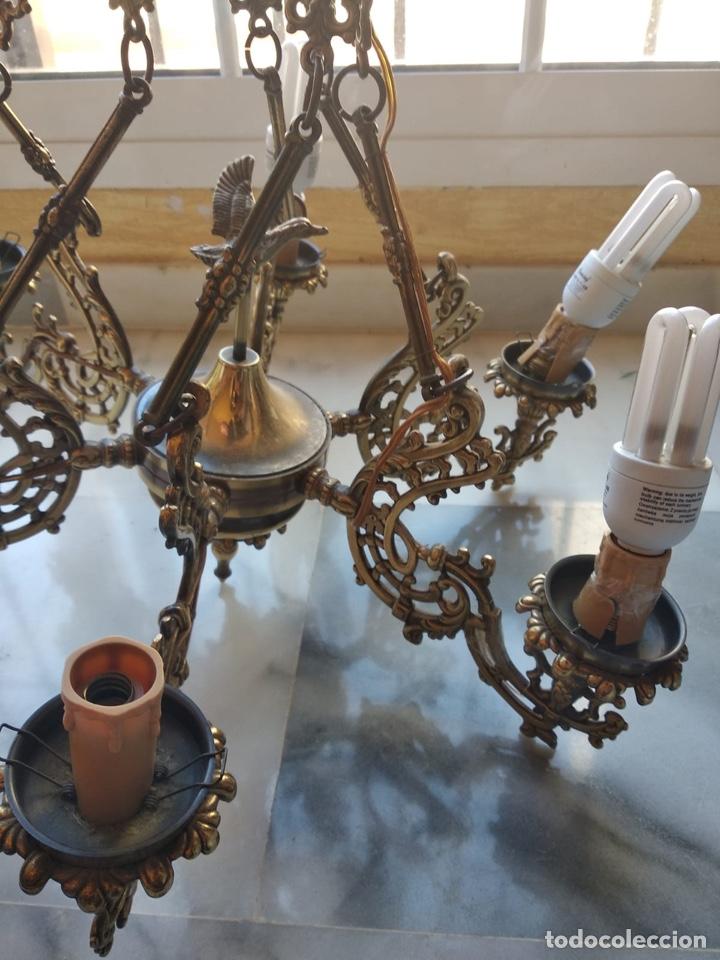 Antigüedades: Bonita lámpara antigua en bronce - Foto 4 - 167673692