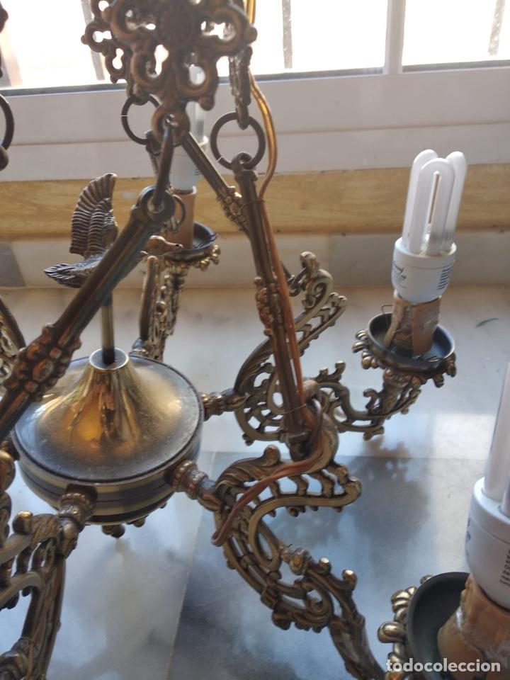 Antigüedades: Bonita lámpara antigua en bronce - Foto 5 - 167673692