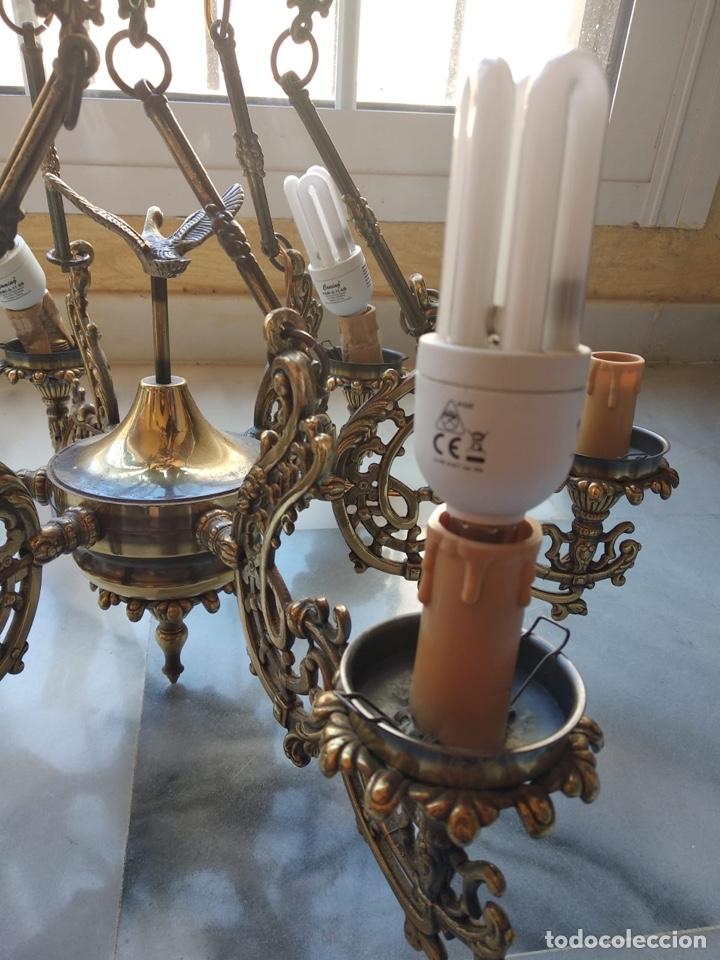 Antigüedades: Bonita lámpara antigua en bronce - Foto 6 - 167673692