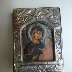Antigüedades: ARTÍCULO RELIGIOSO. ZETA STUDIO. PLATA 925 Y MADERA. Lote 167679172