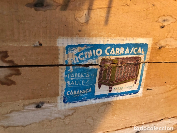 Antigüedades: ANTIGUO BAUL ARCON CON MEDIDAS TOTAL 79X44X54 CM - BAULES CARRASCAL - Foto 10 - 167685116