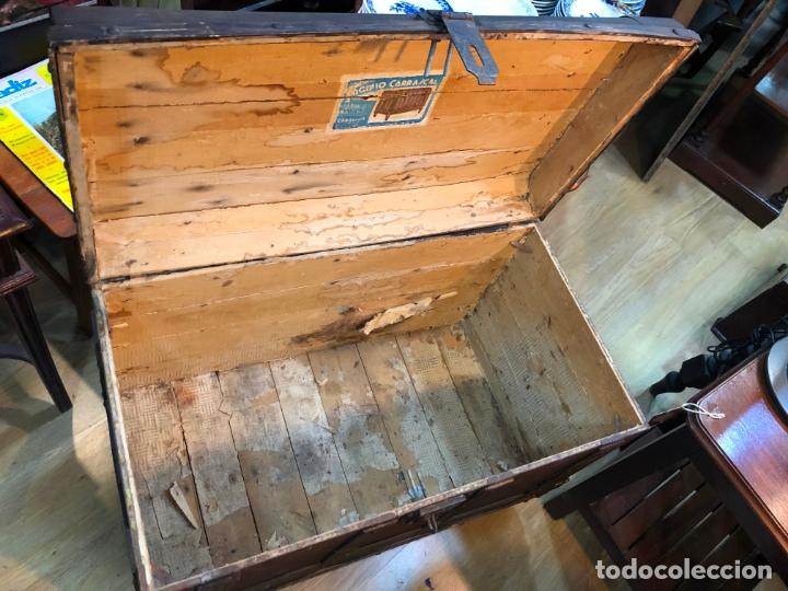 Antigüedades: ANTIGUO BAUL ARCON CON MEDIDAS TOTAL 79X44X54 CM - BAULES CARRASCAL - Foto 11 - 167685116