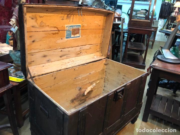 ANTIGUO BAUL ARCON CON MEDIDAS TOTAL 79X44X54 CM - BAULES CARRASCAL (Antigüedades - Muebles Antiguos - Baúles Antiguos)