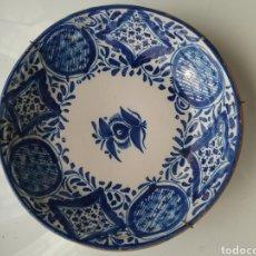 Antigüedades: PLATO EN CERÁMICA SIGLO XIX EN AZUL .. Lote 167688661