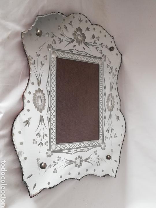 ANTIGUO MARCO PARA FOTOS EN CRISTAL VENECIANO TALLADO VINTAGE AÑOS 70 (Antigüedades - Cristal y Vidrio - Murano)
