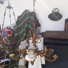 Antigüedades: LAMPARA DE BRONCE. Lote 178795368