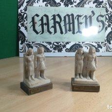 Antigüedades: DOS ESPECIE DE ESCULTURAS CREO SON APOYA LIBROS, MUY BOTITOS. Lote 167713264