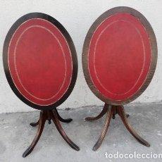 Antigüedades: PAREJA DE VELADORES , MESAS AUXILIARES TILT TOP . Lote 167737328