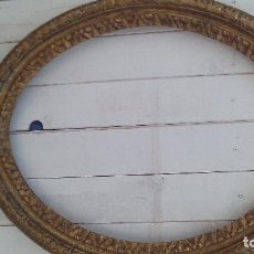 Antigüedades: MARCO OVALADO SIGLO XVIII-XIX POLICROMADO EN DORADOS. Lote 167742572