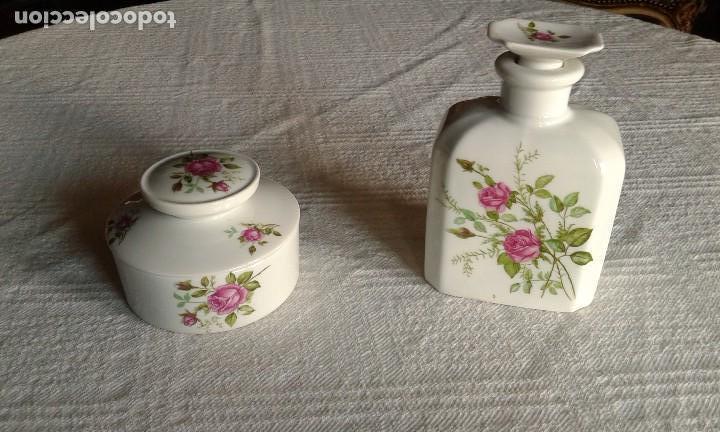 JUEGO TOCADOR DE PORCELANA 2 PIEZAS (Antigüedades - Porcelanas y Cerámicas - Otras)