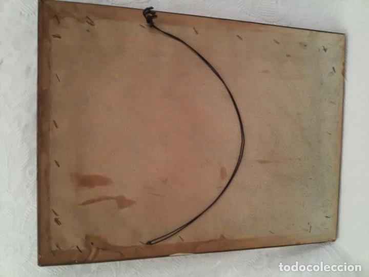 Antigüedades: CUADRO VIRGEN DEL CAMINO EN COBRE REPUJADO BAÑADO EN PLATA - FIRMADO MORERA - Foto 16 - 167764488