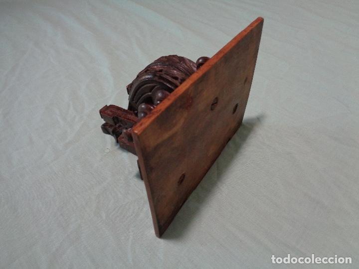 Antigüedades: peana o mensula de madera nogal siglo XIX - Foto 3 - 167776812