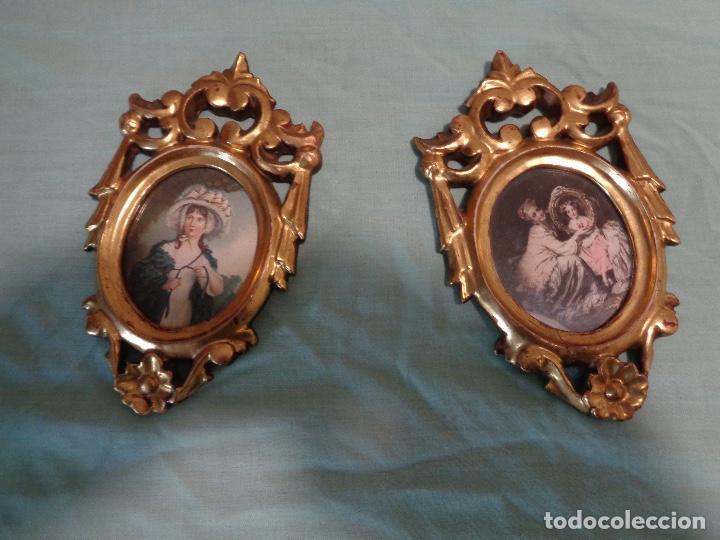 Antigüedades: pareja cornucopias talla madera siglo XIX - Foto 3 - 167777128
