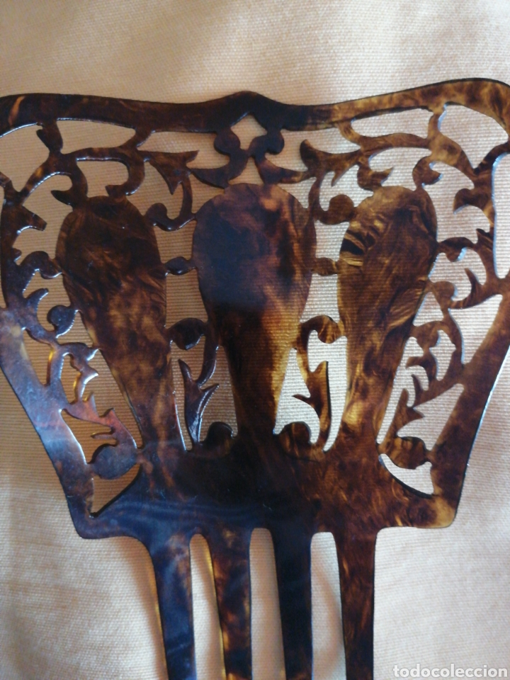 Antigüedades: Peineta simil carey años 20 - Foto 3 - 167784456