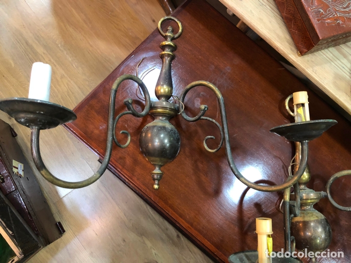 Antigüedades: PAREJA DE APLIQUES HOLANDESA - MEDIDA 37X45 CM - Foto 3 - 167785248