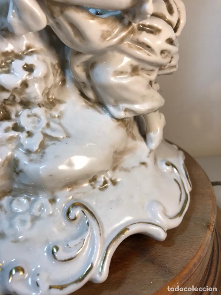 Antigüedades: Lámpara Porcelana- S. Mallol- Figura Árbol- 50 cm - Foto 3 - 167800249