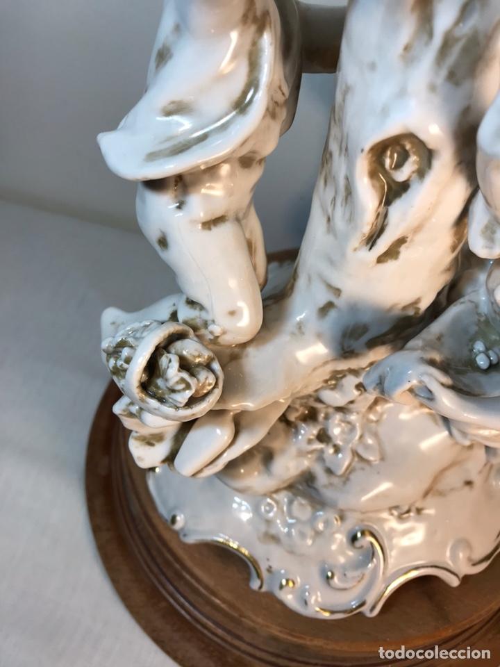 Antigüedades: Lámpara Porcelana- S. Mallol- Figura Árbol- 50 cm - Foto 8 - 167800249