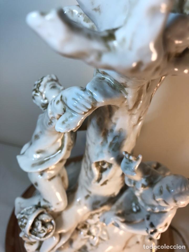 Antigüedades: Lámpara Porcelana- S. Mallol- Figura Árbol- 50 cm - Foto 10 - 167800249